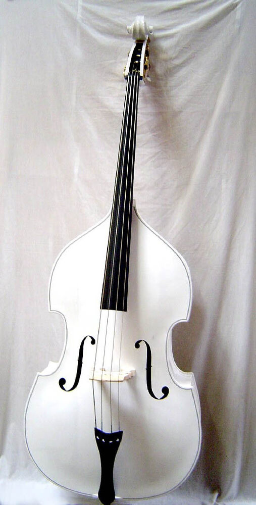 white 3 4 upright bass bag bow xtra string tuner sale ebay