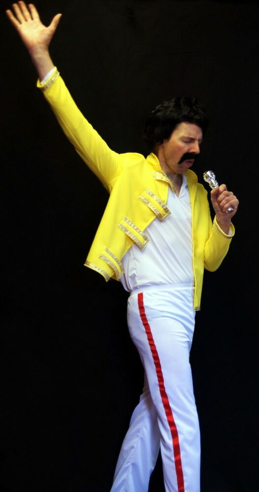 freddie mercury queen fancy dress costume all sizes ebay. Black Bedroom Furniture Sets. Home Design Ideas