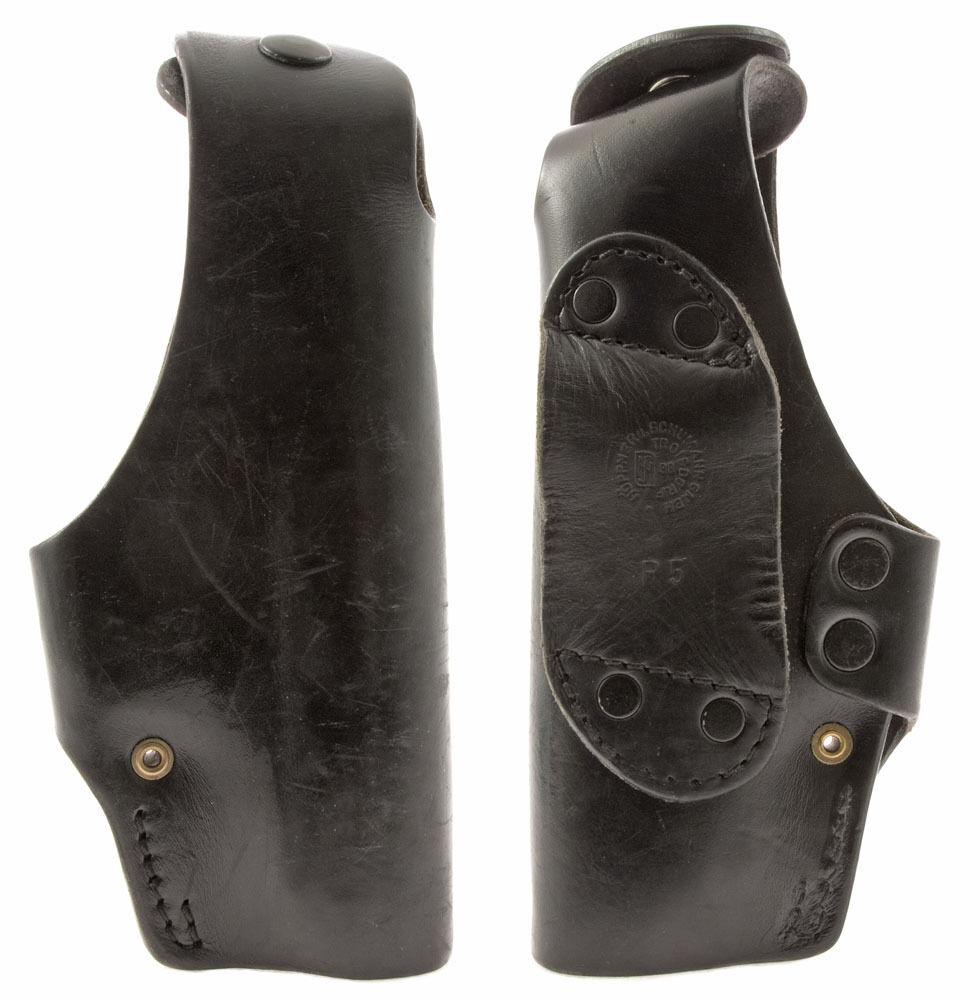 walther p5 black leather belt holster fits glock 17 19 ebay