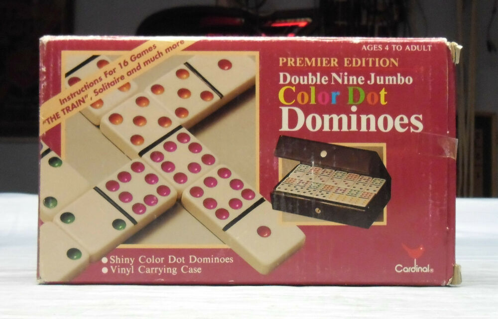 double fifteen color dot dominoes instructions