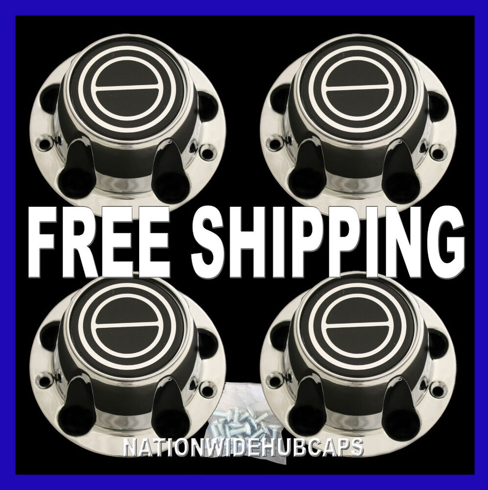 Ford Bronco Car Covers >> FORD F-150 BRONCO CHROME Black Wheel Center Cover 5 Lug Hub Caps Rim Cap Covers | eBay