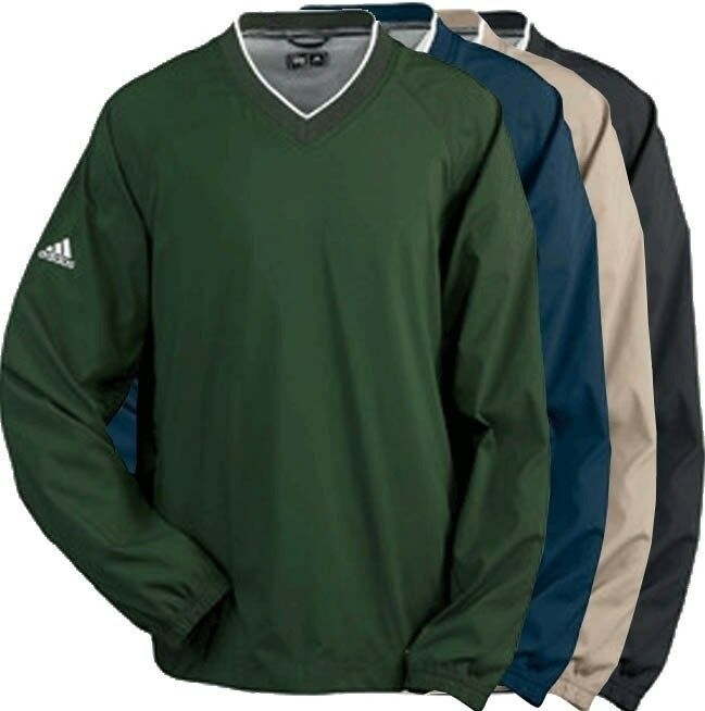 Adidas golf mens s 2xl 3xl climaproof v neck windshirt for Adidas golf rain shirt