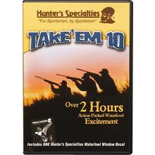 HUNTER'S SPECIALTIES TAKE' EM 10 DUCK HUNTING DVD NEW 120+ MINUTES FREE SHIPPING