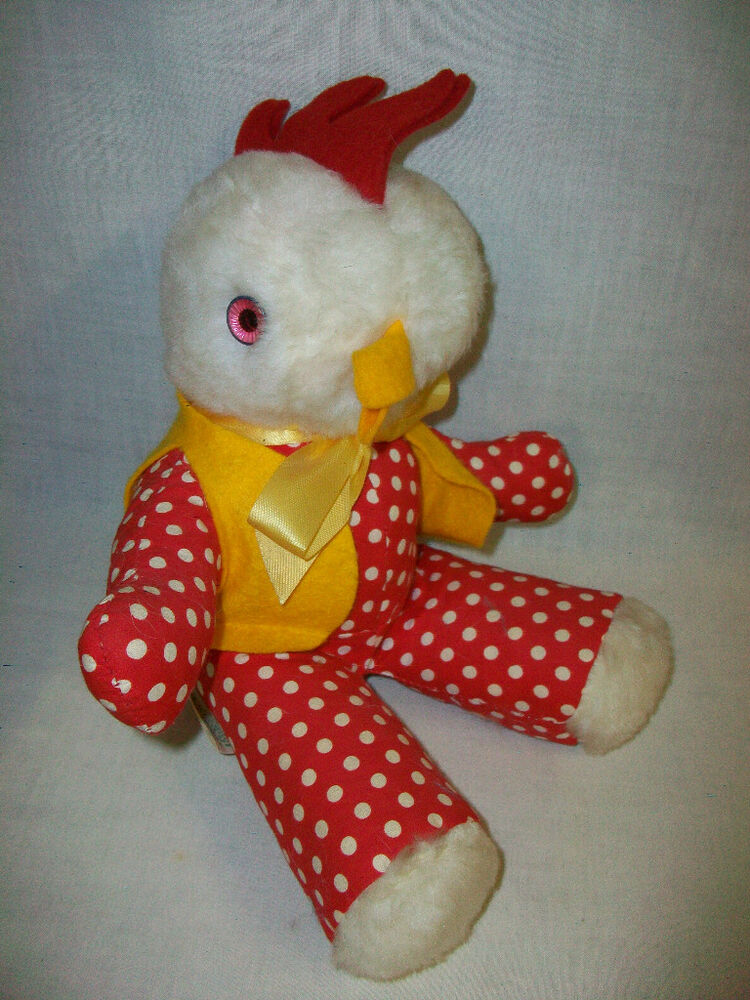 Vintage GUND J. SWEDLIN Plush Stuffed Rooster Chicken Toy ...