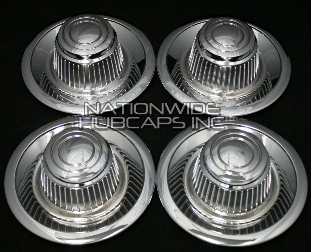 set of 4 chevy gm rally wheel center hub caps 15x8 15x7. Black Bedroom Furniture Sets. Home Design Ideas