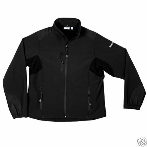 reebok mens s 5xl 2xl 3xl 4xl full zip soft shell sports jacket coat black grey ebay. Black Bedroom Furniture Sets. Home Design Ideas