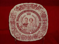 KING GEORGE +QUEEN ELIZABETH 1939 DOMINION OF CANADA VISIT PLATE MADDOCK & SONS