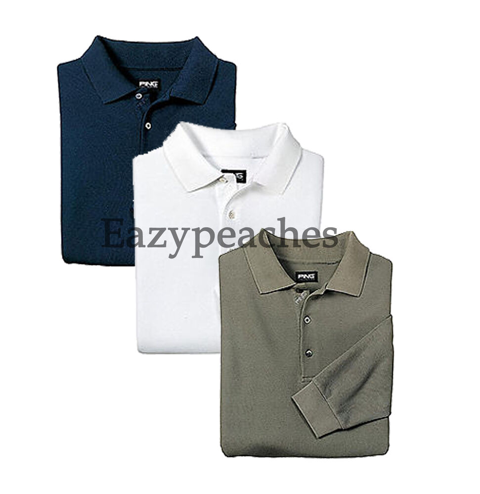ping golf new mens size 3xl 4xl long sleeve polo sport shirt xxxl or xxxxl 60 ebay. Black Bedroom Furniture Sets. Home Design Ideas