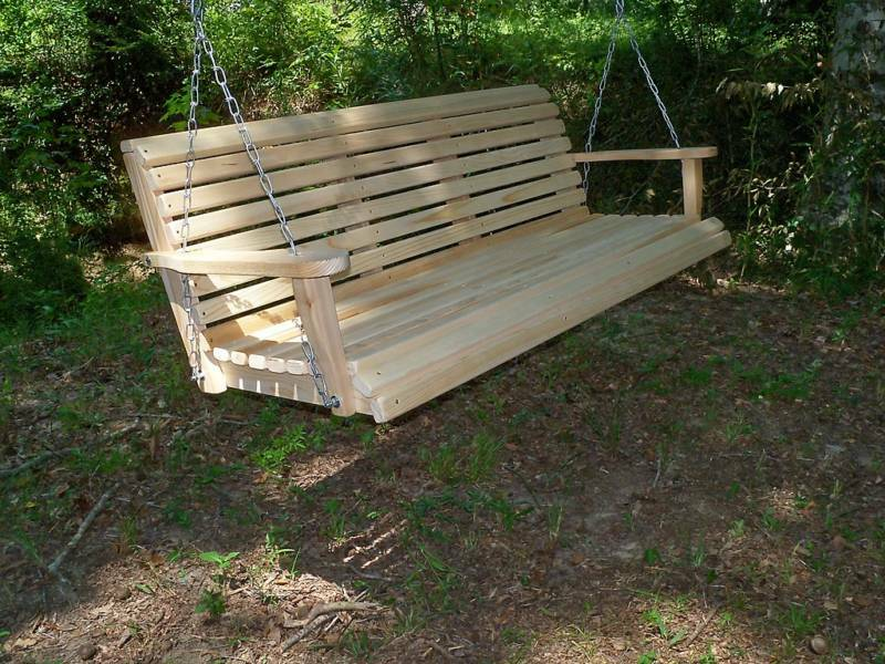 5 Ft Wood Wooden Bench Porch Swing Cypress Outdoor Furniture Swings Made In Usa Ebay