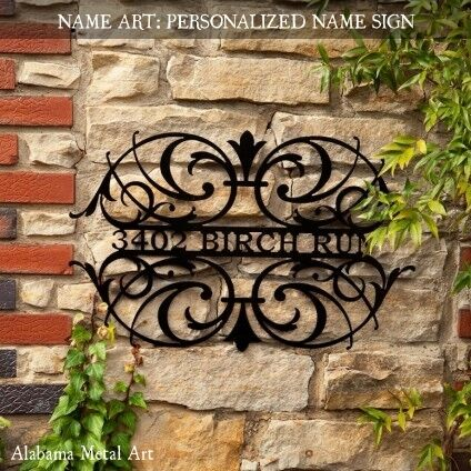 UNIQUE and DECORATIVE: Indoor - Outdoor Personalized Name