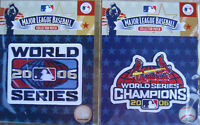 (2) MLB Patch World Series 2006 + WS Champions 2006 St. Louis Cardinals