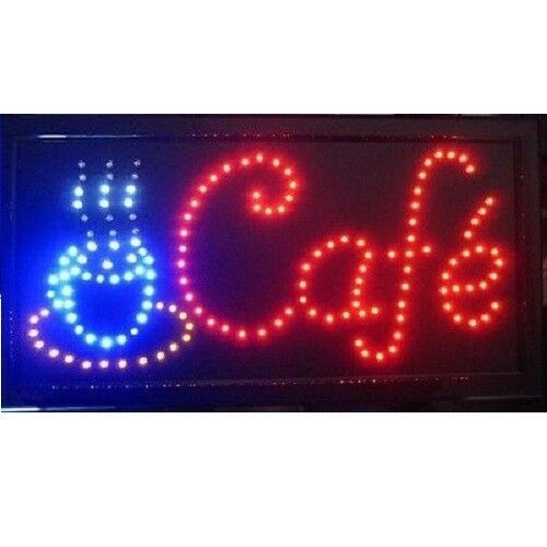 Shop Open Sign Lights: Animated Motion LED Business Cafe Club SIGN On/Off Switch