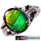 Ammolite Sterling Silver Ring Size 6