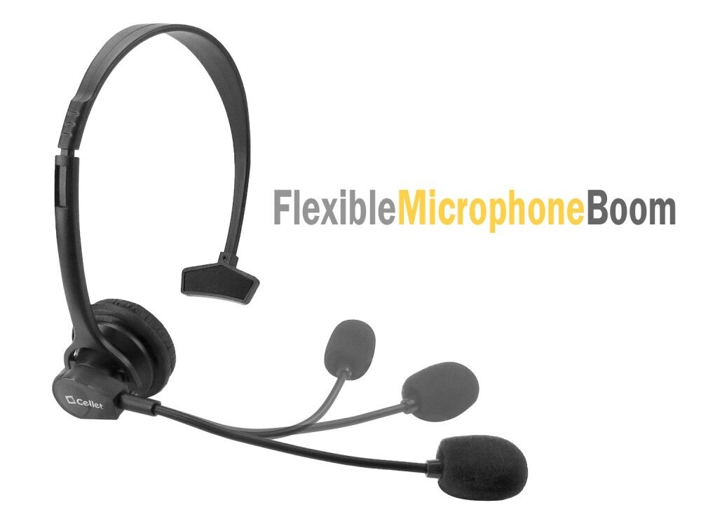 Cellet hands free headset with boom mic for home office cell phones 800768608155 ebay - Phone headsets for office ...