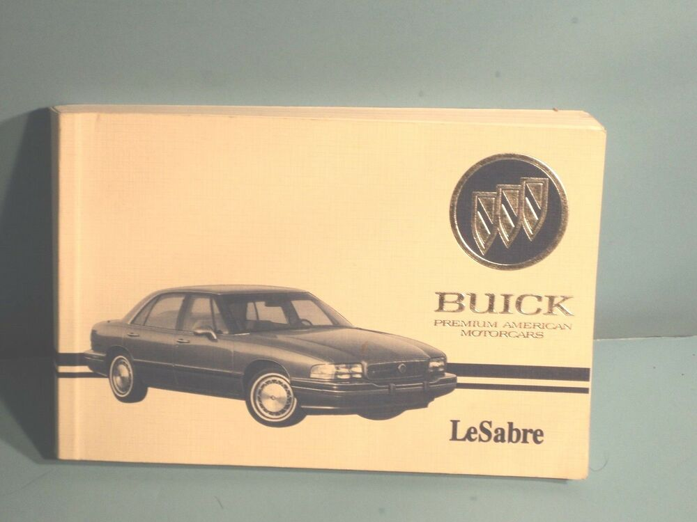 93 1993 buick lesabre owners manual ebay. Black Bedroom Furniture Sets. Home Design Ideas