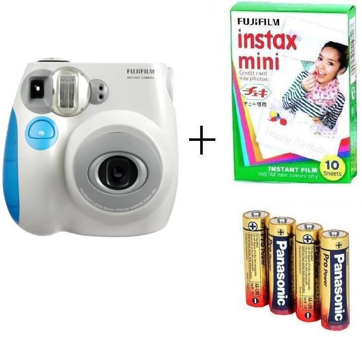 fujifilm instax mini 7s instant camera blue film batteries 5036321120726 ebay. Black Bedroom Furniture Sets. Home Design Ideas