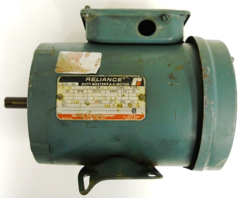 Reliance ac motor p56h3131s vr 1 hp 1725 rpm 60 hz 56c for Westinghouse ac motor 1 3 hp