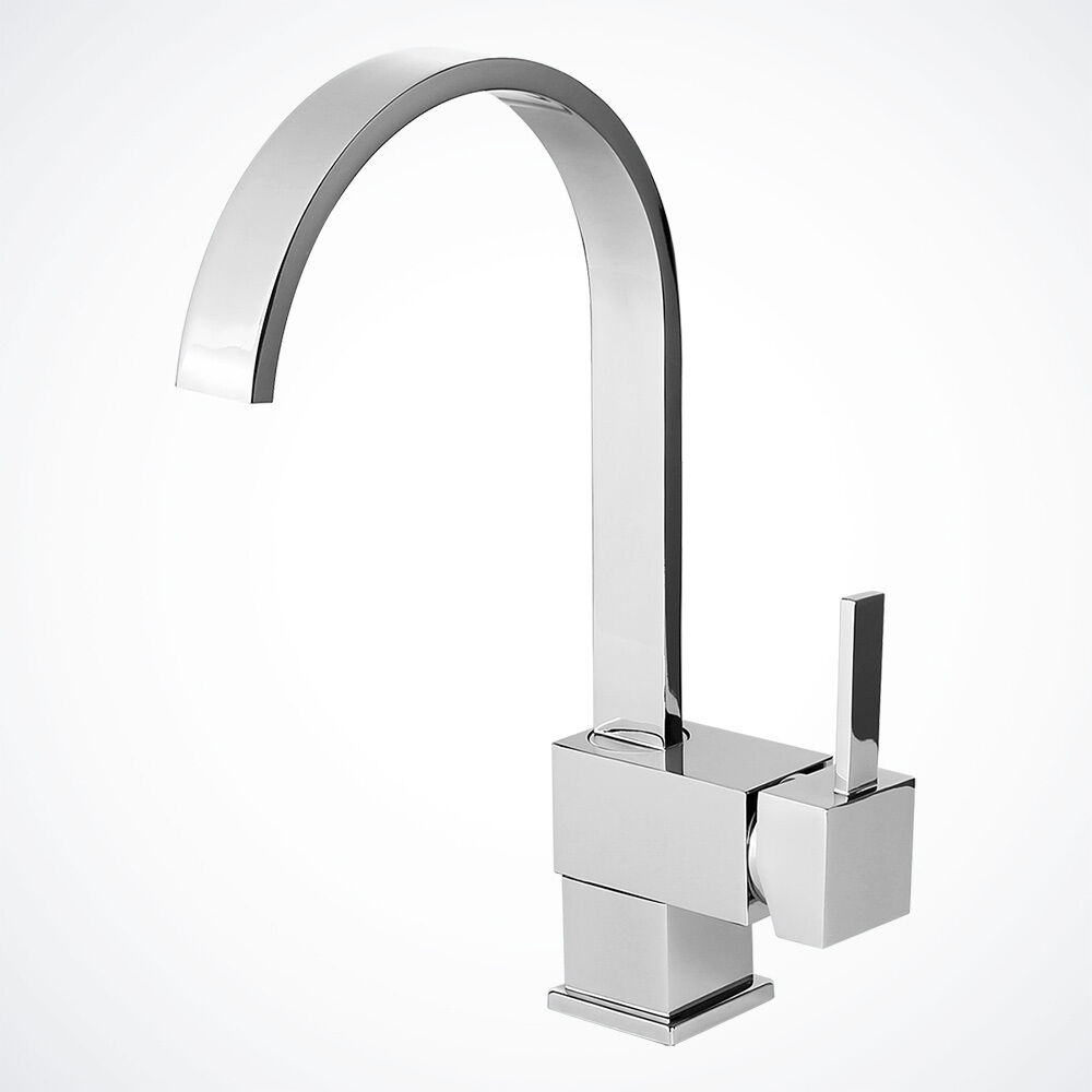New 12 Chrome Kitchen Bathroom Faucet Vessel Sink Basin Wet Bar Swivel Spout Ebay
