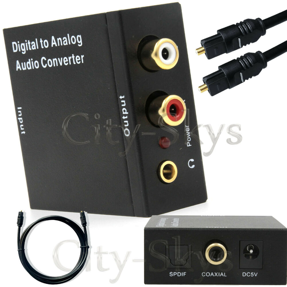 Digital Optical Coax Coaxial Toslink To Analog Rca L R