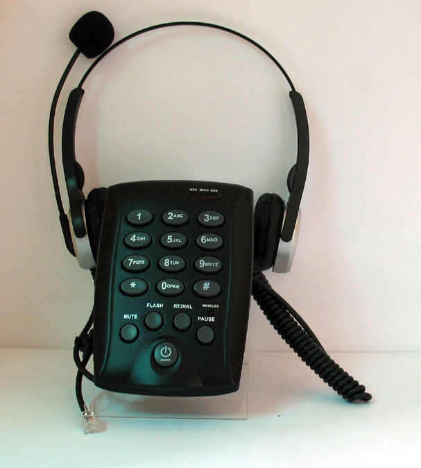 RJ11 Corded Headset Telephone Dialpad For Office Call