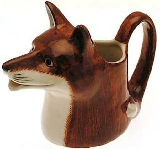 Fox Milk Jug Quail Pottery Collectable Hunting Gift Ebay