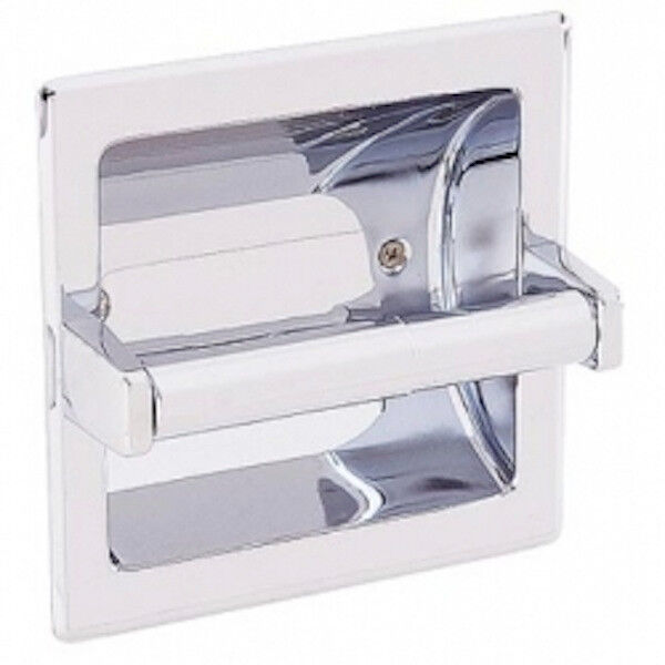 Commercial 1607b Recessed Toilet Tissue Dispenser Chrome Ebay