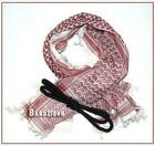 Shemagh Men Head Scarf Chequered Arabic Red/White Keffiyah Neck Scarves Keffiyeh