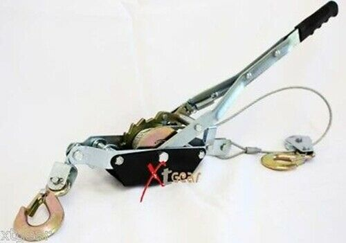 4 Ton 8000lbs Pro Come Along Winch Hand Puller W 2 Hooks