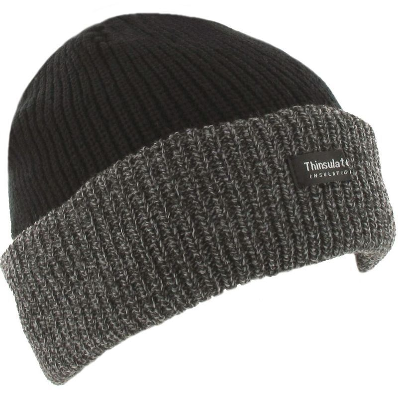 black grey winter work chunky beanie thinsulate thermal. Black Bedroom Furniture Sets. Home Design Ideas