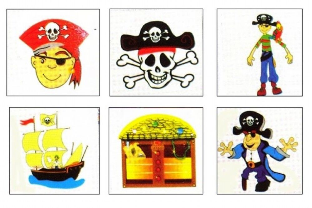 Pirate Toys For Boys : Pirate tattoos boys party bag toys loot fillers ebay