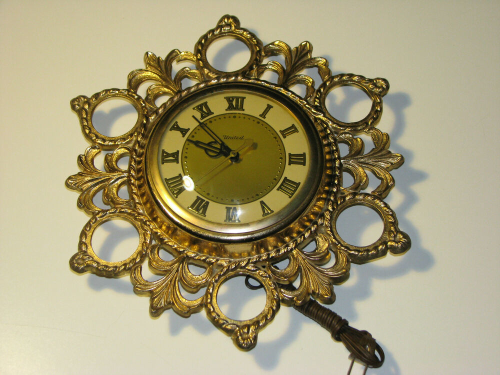 Vintage United Clock Corporation Electric Wall Clock Ebay
