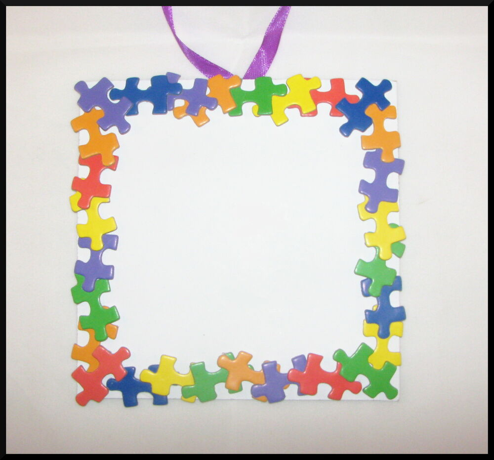 Craft: Puzzle Piece Photo Frame Craft Kit For Kids 32 Sturdy