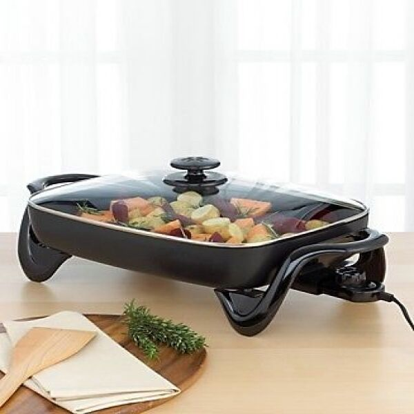 Kitchen Skillet: Presto 16 Inch Electric Kitchen Skillet With Glass Cover