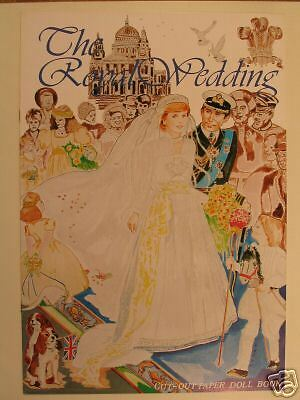 Princess Diana The Royal Wedding Cut Out Paper Doll Book