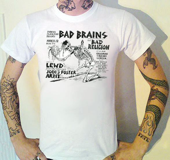 bad brains bad religion vintage usa gig flyer t