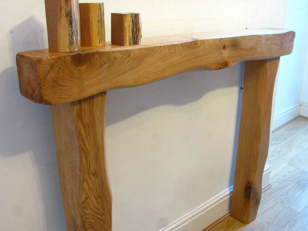Solid Oak Beam Fire Surround Fireplace Mantel Lintel Chunky Rustic Ebay
