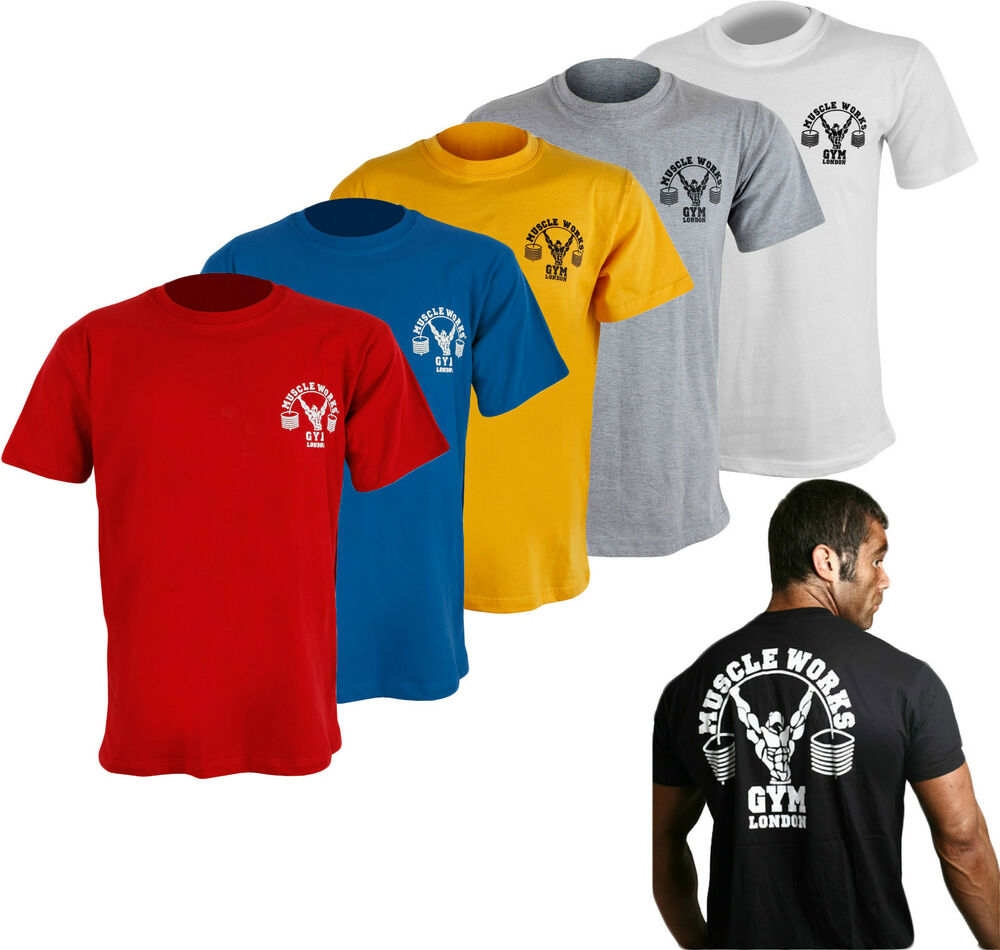 Muscle Works Gym London T Shirts All Sizes S 3xl Gym Wear