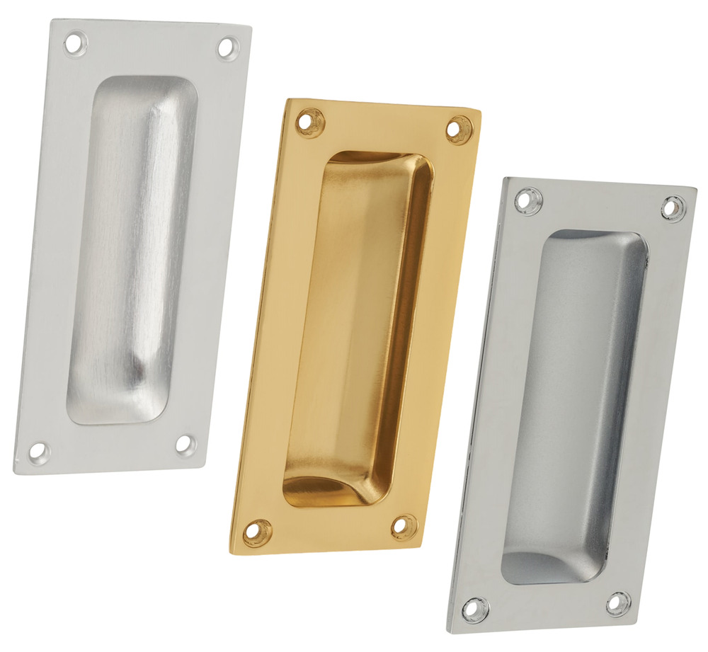 Flush pull handle 89mm x 43mm recessed door finger insert slide sliding handle ebay Fingertip design kitchen door handles
