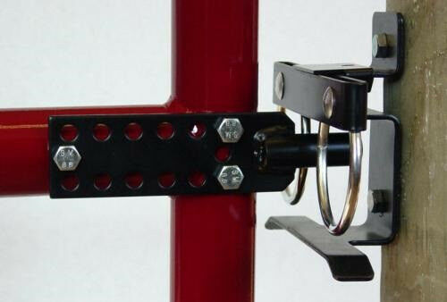 Rownd Up Double Lockable Gate Latch For Wood Metal Iron