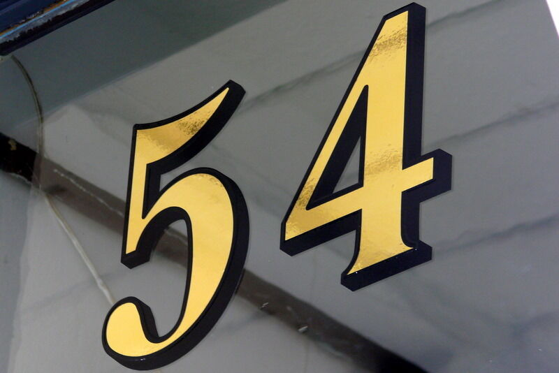 Gold Leaf Fanlight Transom House Numbers For Victorian