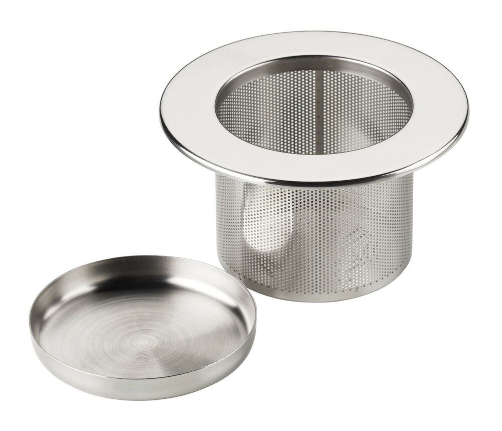 Stainless Steel Safandarley Metalworking Mexico: Tea Infuser Filter Strainer Sieve & Tray Metal Stainless