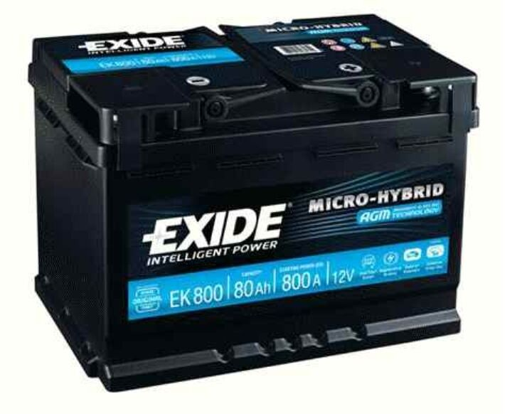 exide agm batterie ek800 80ah audi a4 a6 bmw 5 e60 e61 ebay. Black Bedroom Furniture Sets. Home Design Ideas