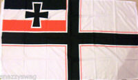 GERMAN IMPERIAL WAR Flag 5 ft x 3 ft NEW!, WW1 GERMANY NAVY ENSIGN NO CREST