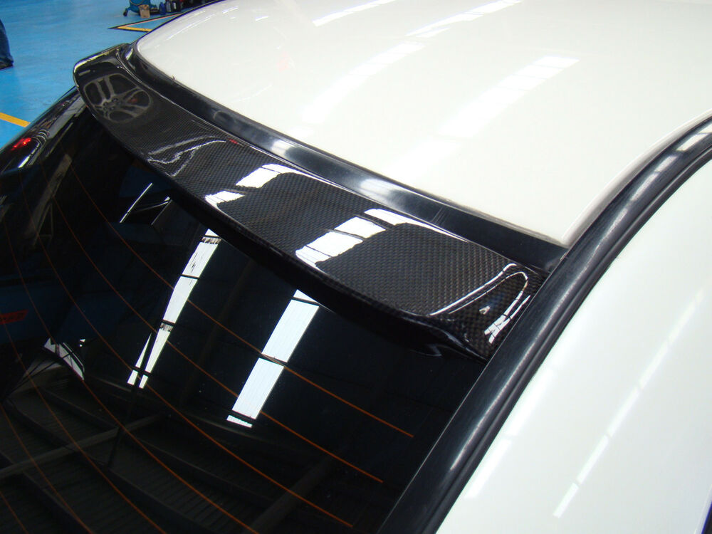 Rear Window Spoiler Wing Carbon Fiber Fit Impreza 96 97 98