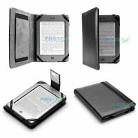 PREMIUM BLACK PU LEATHER KINDLE TOUCH / 4 WiFi CASE COVER WALLET WITH LED LIGHT