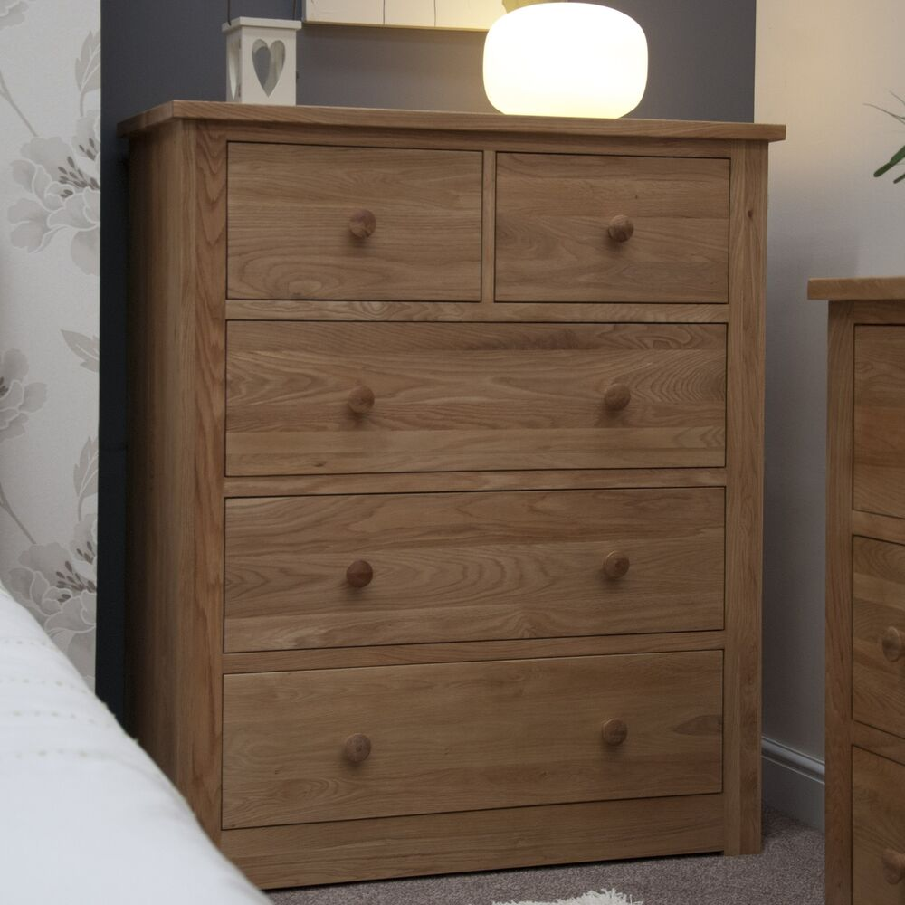 Mardale solid oak bedroom furniture 2 over 3 chest of for Bedroom furniture chest of drawers