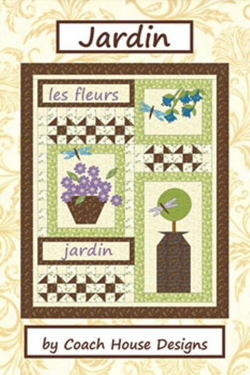 Moda Jardin Quilt Pattern 42 X 54 By Coach House Designs Ebay