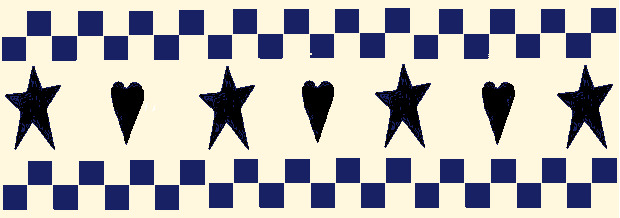 Stencil Primitive Stars Hearts Checks Wall Border Countruy