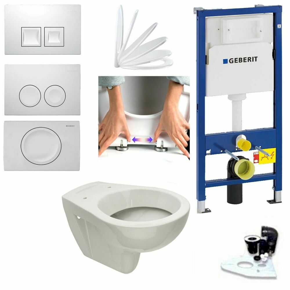 geberit duofix vorwandelement wand wc set mit wc tiefsp ler neu ebay. Black Bedroom Furniture Sets. Home Design Ideas