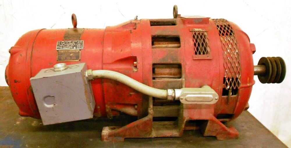 Louis allis motor no 1612783 15 hp 1740 rpm 3 phase ebay for Allis chalmers electric motor